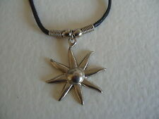 "STARBURST NECKLACE /  PENDANT WITH 16"" BLACK CORD"