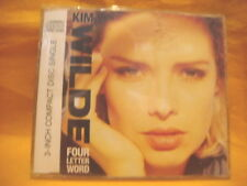 "MAXI 3"" MINI CD KIM WILDE Four Letter Word 3TR 1988 synth pop"