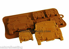 MINI TYPE Vehicle Car Boys Chocolate Silicone Bakeware Mould Candy Cake Mold Tin