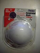 Five 2 packs of Niosh N95 Rated Respirator Masks Total of 10 masks