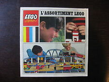 LEGO CATALOGUE  1968 L'ASSORTIMENT LEGO 16 PAGES FORMAT14 X 14 cm