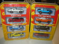 Hot Wheels 2007 Since 68 Tin 4-Car Set 2 Different Muscle Car Series