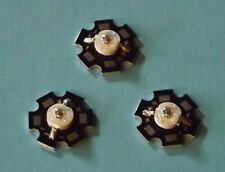 3 x 3W 940nm IR POWER  LED on HEATSINK Kühlkörper Emitter Infrarot Infrared 5mm