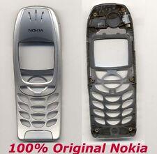Original 100% Nokia Cover SILBER 6310 6310i Front Cover Gehäuse Schale Wie NEU