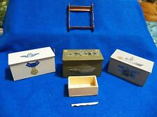 """Hand Crafted Armed Forces Ammo Boxes and Gun Rack For 12"""" G.I. Joe"""