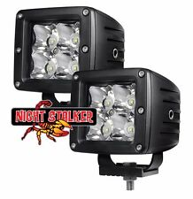 "3"" Square 12 Watt Quad Night Stalker LED.High Energy Long Range Off Road Light"