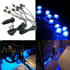 Blue LED 10 in 1 Car Charger Interior Decoration Floor Decorative Light Lamp 12V