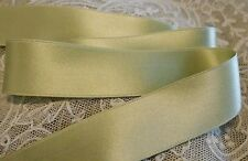 "1"" WIDE DOUBLE FACE SILK SATIN RIBBON -SAGE GREEN #31 - BY THE YARD"
