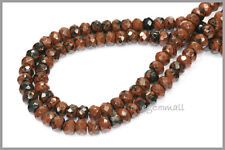 Mahogany Obsidian Rondelle Faceted Beads 6mm #89017