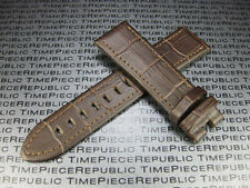 Brown 22mm Genuine Leather Strap Stitch Band MONTBLANC Timewalker II c