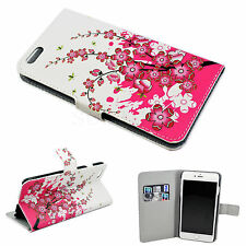 """Pink Leather Slots Card Wallet Pouch Cover Case For Apple iPhone 6 Plus 5.5"""""""