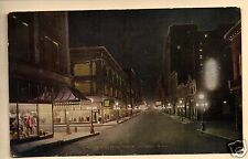 ST PAUL MN SIXTH STREET STORES AT NIGHT 1913 SWEIGART ST MARY'S OHIO   POSTCARD