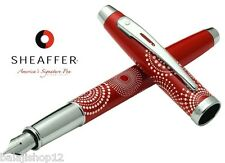 Sheaffer 100 Pattern Gift Collection Fountain Pen Gloss RED FINE NIB New