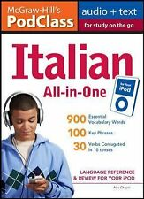 Italian : Language Reference and Review for Your Ipod by Alex Chapin (2009,...