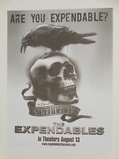THE EXPENDABLES 17x22 PROMO MOVIE POSTER