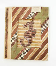 Large Handmade photo album, made using natural lief & bark SEA HORSE DESIGN new