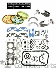 88-91 Honda Civic Si EX CRX Si 1.6L D16A6 Gaskets & Engine Bearings *RE-RING Kit