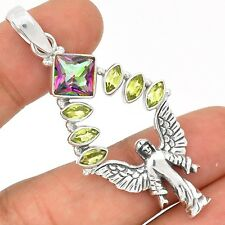 Angel - Rainbow Topaz 925 Sterling Silver Pendant Jewelry SP197252