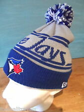 BLUE JAYS Toronto NEW ERA MLB BEANIE TUQUE Bobble Hat Baseball Pompom Canada Gry
