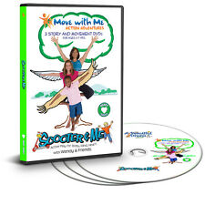NEW Yoga Kids Fitness (3 DVD Set) Move with Me Action Adventures: Heart Series