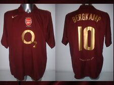 Arsenal BERGKAMP Shirt Jersey football Soccer Nike XXL Holland Highbury Ajax Top