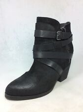 "STEVE MADDEN ""Paiva"" women boots ankle black suede leather zipper Sz. 12"