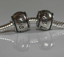 Rondel Live Laugh Love Lebe Lache Liebe 925 Sterling Silber Bead Beads Charms