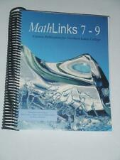 TEXTBOOK MathLinks 7-9 Math Links NEW McGraw Hill for Northern Lake College