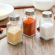 Food Seasoning Salt Pepper Bottle Cruet Pot Spreader Shaker Jar Holder ESUS