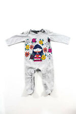 Little Marc Jacobs Gray Long Sleeve Graphic Print One Piece Size 3 Months
