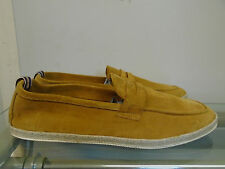 MENS H BY HUDSON SHOES TAN SUEDE LOAFERS UK 8 RRP £80