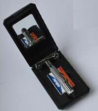 NEW MENS GIFT BOXED BNIB Butterfly Safety Razor & 10 Wilkinson Sword Blades TTO