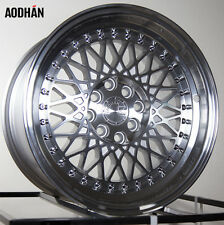 Aodhan Ah05 15X8 4X100/114.3 Et20 Silver Machined Lip Wheels (Set Of 4)