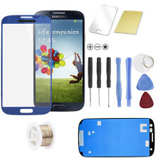 Samsung Galaxy S4 i9500 i9505 Display Touchscreen Front Glas Scheibe Blau
