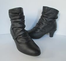 Tender Tootsies Womens Brown Leather Victorian Inspired Zip Up Ankle Boots  7 W
