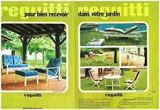 Publicité Advertising 1974 (2 pages) Les meubles de jardin Reguitti