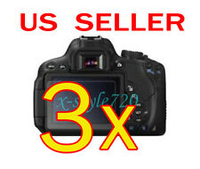 3x Canon EOS 650D Rebel T4i Clear LCD Screen Protector Guard Shield Film