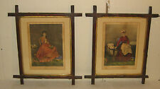 CURRIER & IVES *DAY BEFORE MARRIAGE* & *YEAR AFTER MARRIAGE* BRIDE then MOTHER