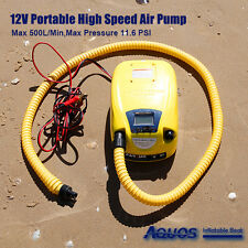 AQUOS 12V Electric Air Pump For Avon Achilles Mercury Zodiac Inflatable Boats