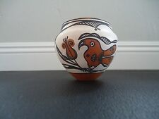Native American Indian Acoma, NM Pottery Small Pot Signed by D. Davis
