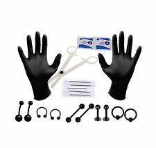 20pcs Body Piercing Kit 14G Belly Button Eyebrow Nipple Lip Nose Face Jewelry
