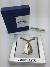 "MORELLATO CIONDOLO Collection Necklace with Brown 48"" Leather String N4812BR"