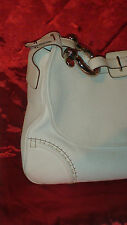 roots  AUTH. BURBERRY ALL WHITE LEATHER HOBO $1,200++++ RETAIL