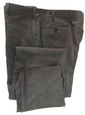 New ARMANI Collezioni Dk. Gray Striped Wool Dress Pants W42R