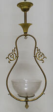Gas Hall Pendant Fixture Chandelier Shade 1890's