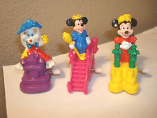 """Walt Disneys World 20th Anniversary""Burger King 3 pc. lot wind ups 1993 toys"