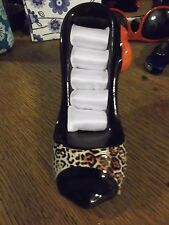 animal print high heeled shoe ring holder