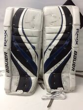 "Bauer RX6 Hockey Goalie Leg Pads Junior 26"" + 1"" Used"