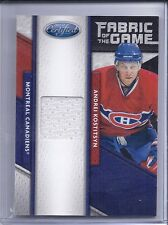11-12 2011-12 CERTIFIED ANDREI KOSTITSYN FABRIC OF THE GAME JERSEY /399 84 HABS