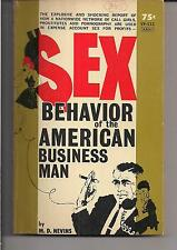 SEX BEHAVIOR OF THE AMERICAN BUSINESS MAN ~ VICEROY VP112 1964 M.D. NEVINS